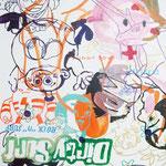 JUDAS ARRIETA Funny love 73x54cm acrylic & marker on canvas 2010