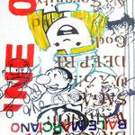 JUDAS ARRIETA Baile marciano 73x54cm acrylic & marker on canvas 2010
