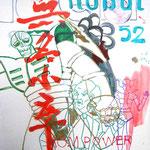 JUDAS ARRIETA Is name is nobody 73x54cm acrylic & marker on canvas 2010
