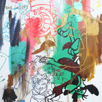 JUDAS ARRIETA Steve 73x54cm acrylic & marker on canvas 2010