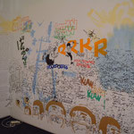 West meets east. Acrylic & markers on wall. KM Culture Centre. San Sebastian-Donostia.2011.