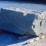 Bloc de la construction découvert dans le chenal