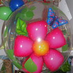 bubble ballon Blume