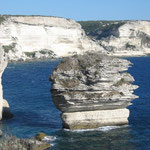Die Küste vor Bonifacio. Singlereisen auf einer Segelyacht im Mittelmeer buchen