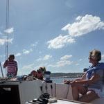 aktiv segeln auf einer sportlichen Segelyacht