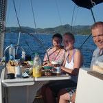 Janina und Thomas in 2011 vor Korsika