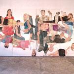"""Eva Hradil, """"21 Menschen"""", Zustandsfoto von 17 aus 21"""