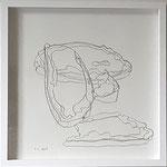 """Eva Hradil """"Schichtungen"""" 2017, Bleistift auf Papier, 30 x 30 cm"""