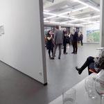 """""""Brotberuf Malerei"""" Galerei Eboran, Salzburg, Foto während der Eröffnung, Foto: Rebecca LittleJohn"""