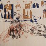 "Eva Hradil ""Männer"" Serigrafie, 2004"
