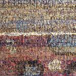 """SOLD Eva Hradil """"NET T WORKING"""" Eitempera auf Halbkreidegrund auf Leinwand 110 x 130 cm"""