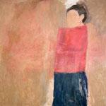 """Eva Hradil """"SP 2003"""", 2003, aus der Diplomarbeit """"An- und abwesende Modelle"""" 130 x 130 cm"""
