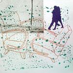 """Eva Hradil """"dancing couple"""" Serigrafie"""