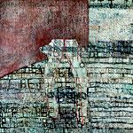 """Eva Hradil """"Verbundenheit"""" 2013/2014, Eitempera auf Halbkreidegrund auf Leinwand, 200 x 210 cm"""