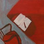 """SOLD Eva Hradil """"Titel vergessen"""" Eitempera auf Leinwand, 30 x 33 cm"""