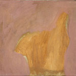 "Eva Hradil ""gelbes T-Shirt"" Eitempera auf Leinwand 30 x 33 cm"