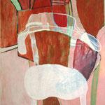 "Eva Hradil ""TT Sessel"" 2012, Eitempera auf Halbkreidegrund auf Leinwand, 90 x 80 cm"