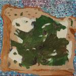 "Eva Hradil ""simply"" 2018, Eitempera auf Halbkreidegrund auf Leinwand, 30 x 33 cm"