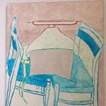 Eva Hradil Abstand/Verbindung 2011,Eitempera auf LW, 90 x 80 cm