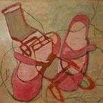"SOLD Eva Hradil ""Frühlingsgefühle"" Eitempera auf Leinwand, 45 x 50 cm"