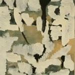 """Eva Hradil """"Vorfrühling"""" 2018 Eitempera auf Papier auf Molino, 60 x 50 cm"""