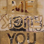 "Eva Hradil ""Me Fuck You"" 2014 Eitempera auf Halbkreidegrund auf Leinwand, 50 x 45 cm"