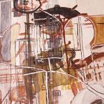 "Eva Hradil ""Wien II"" 2010, Eitempera auf Leinwand, 150 x 130 cm"