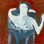 "SOLD Eva Hradil ""Tangoumarmung mit Sesselbeinen"" 2011, 80 x 90 cm"