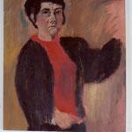 """SOLD Eva Hradil """"SP während Männer"""", 2004 Öl auf Leinwand, 90 x 80 IM BESITZ VON LANDESMUSEUM NÖ"""