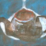 "Eva Hradil ""Meereskanne"" Öl auf Leinwand 32 x 42 cm"