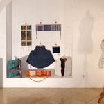 """Eva Hradil, Hausherrinnenkunst, Ausstellungsansicht, im Bild: Serie """"People in me"""", Foto: P. Kainz"""