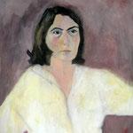 """Eva Hradil """"SP mit Mutter's Mund"""", 1999, 90 x 80 cm"""