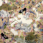 """Eva Hradil """"Wege finden"""" Eitempera auf Halbkreidegrund auf Leinwand 130 x 110 cm"""