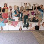 """Eva Hradil, """"21 Menschen"""", Zustandsfoto von 20 aus 21"""