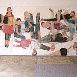 """Eva Hradil, """"21 Menschen"""", Zustandsfoto von 15 aus 21"""