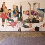 """Eva Hradil, """"21 Menschen"""", Zustandsfoto von 14 aus 21"""