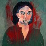 "Eva Hradil ""SP weinend"", 1999, Öl auf LW, 90 x 80 cm"