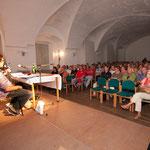 Idyllische Lesung Franzobel und Maxi Blaha Schloss Orth an der Donau