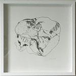 "Eva Hradil ""Gadsenlaibe"" 2019, Bleistift auf Papier, 30 x 30 cm"