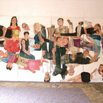 """Eva Hradil, """"21 Menschen"""", Zustandsfoto von 18 aus 21"""