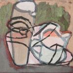 """SOLD Eva Hradil """"Kannenschuh"""" 2011-2013, Öl und Eitempera auf Leinwand, 30 x 33 cm"""