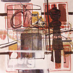 "Eva Hradil ""Wien I"" 2010, Eitempera auf Leinwand, 150 x 130 cm"