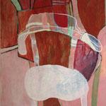 Eva Hradil Sesselportrait 2011,Eitempera auf LW,90 x 80 cm