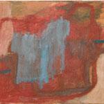 "Eva Hradil ""T-Shirt hellblau"" Öl und Eitempera auf Leinwand 30 x 33 cm"