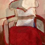 """Eva Hradil """"als Sessel"""" Öl und Eitempera auf Leinwand 60 x 50 cm"""