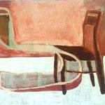 """SOLD Eva Hradil """"Zwei gegenüber"""" 2008, Eitempera auf Halbkreidegrund auf Leinwand, 50 x 60 cm"""