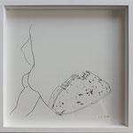 "Eva Hradil ""Knackarsch-Brot"" 2018, Bleistift auf Papier, 30 x 30 cm"
