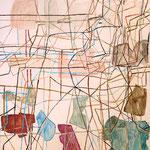"""SOLD Eva Hradil """"Ohne Titel"""" Eitempera auf Halbkreidegrund auf Leinwand 130 x 110 cm ARTOTHEK KREMS"""