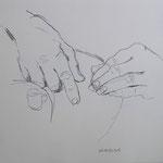 "Eva Hradil aus ""Hände"" 40 x 40 cm"