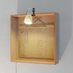 """Eva Hradil, Hausherrinnenkunst, Ausstellungsansicht, im Bild: """"Gasflasche"""" Foto: P. Kainz"""